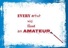 关于艺术家的Qute 免版税库存照片