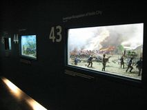 关于菲律宾在阿亚拉博物馆,马卡蒂的历史的展览 库存图片