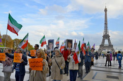 关于虐待监禁的抗议在伊朗 免版税库存照片