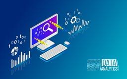 关于计算机的逻辑分析方法信息 免版税库存图片