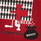 关于赌博的海报 库存例证