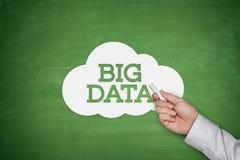 关于黑板的大数据 免版税库存照片