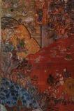 关于buddah的美丽的图画在灯的Wat Pong Sanuk寺庙 免版税库存照片