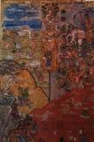 关于buddah的美丽的图画在灯的Wat Pong Sanuk寺庙 免版税库存图片