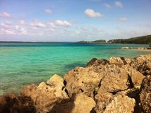 关岛海岛海滩 库存照片