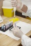 关心健康实验室医学测试 免版税库存图片
