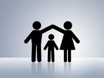关心儿童家父母亲保护安全 库存照片