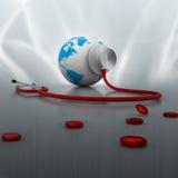 关心全球健康 库存照片