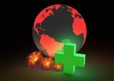 关心全球健康 免版税库存照片