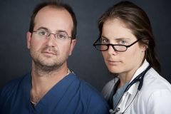 关心卫生业职员 库存图片