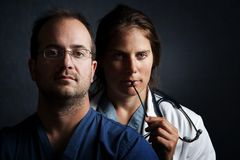关心卫生业职员 免版税库存图片