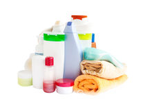 关心和卫生间产品 免版税库存图片