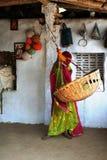 关心子项印度 免版税库存图片