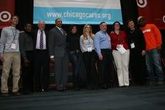 关心庆祝芝加哥服务 免版税库存图片