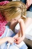 关心手足病的治疗英尺 免版税库存照片