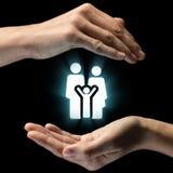 关心的概念家庭和孩子的 免版税图库摄影