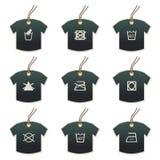 关心织品主题标签T恤杉 图库摄影