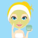 关心脸面护理皮肤 库存图片