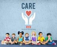 关心给慈善份额捐赠基础概念 向量例证