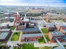关税同盟煤矿工业建筑群 免版税库存照片