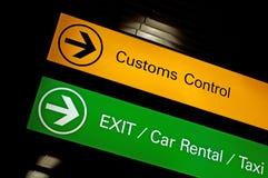 关税控制符号。 免版税库存照片