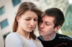 关系问题-夫妇纵向 免版税库存图片