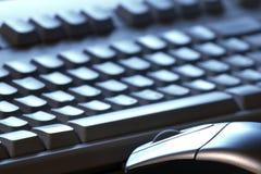 关键关键董事会鼠标 免版税库存照片