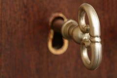 关键匙孔概要 免版税库存照片