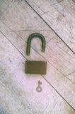 关键字开放挂锁 免版税库存图片