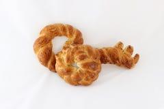关键形状鸡蛋面包面包 免版税图库摄影