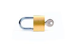 关键挂锁 免版税库存图片