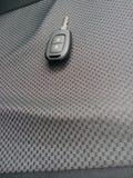 关键汽车和钥匙圈 库存照片