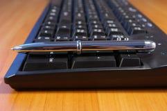 关键董事会个人计算机笔 免版税库存图片