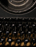 关键董事会手工老打字机 免版税库存图片