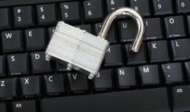 关键董事会挂锁开锁了 库存照片