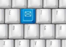 关键董事会按钮-电子邮件 库存图片
