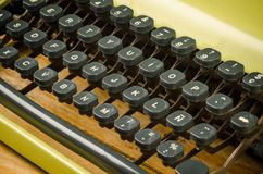 关键董事会老打字机 免版税图库摄影