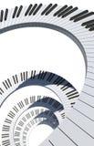 关键董事会钢琴螺旋 免版税库存图片