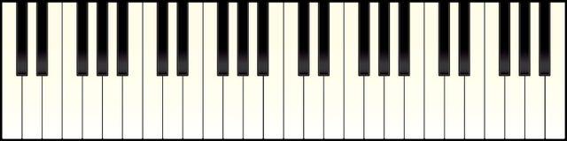 关键董事会长的钢琴 免版税库存照片