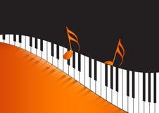 关键董事会音乐注意波浪的钢琴 免版税库存照片