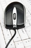 关键董事会鼠标个人计算机 免版税库存图片