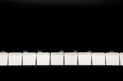 关键钢琴 库存照片
