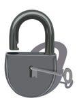 关键锁定带出去 向量例证