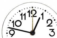 关闭一个简单的时钟 免版税图库摄影
