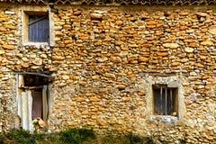 关闭一个被毁坏的空的房子在穆尔西亚 免版税库存照片