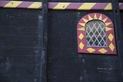关闭一只老货船,不用水在港口在伦敦,英国 库存照片