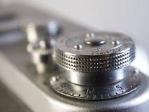 关闭一台减速火箭的影片照相机 免版税库存照片