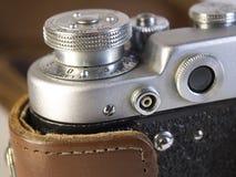 关闭一台减速火箭的影片照相机 免版税库存图片