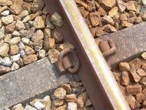 关闭一条铁路轨道 图库摄影