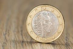关闭一枚卢森堡语欧洲硬币 图库摄影
